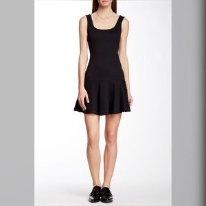 French Connection Sleeveless Ribbed Black Dress